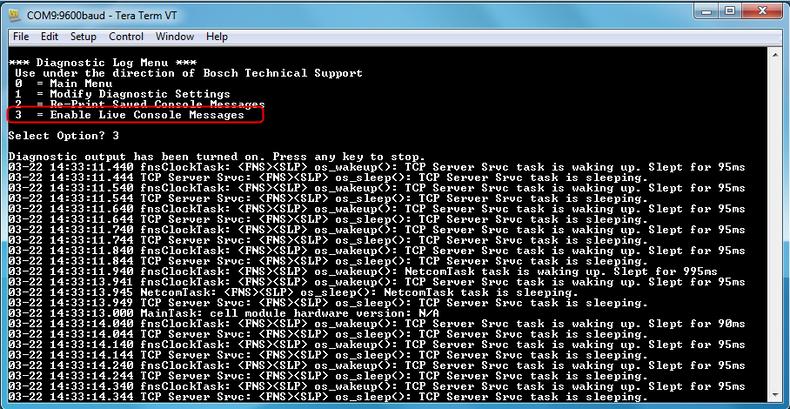 Figure 4  Enable Live Console Messages