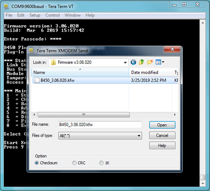 Figure 4 Select the firmware file