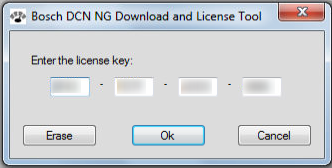 Current license key