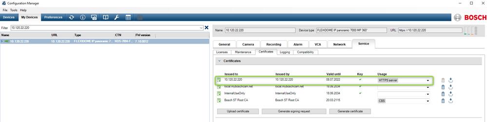 IP Camera Certificate