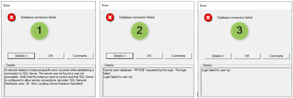 Database Connect Failed 3 reasons.png