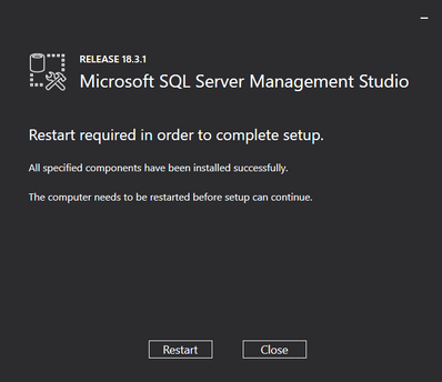 SSMS Restart Required.png