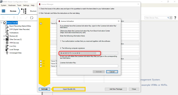 3_How to retrieve hardware ID for BVMS and check SMA status.png