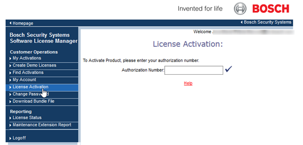 5_activate Bosch Video Management System (BVMS) license.png