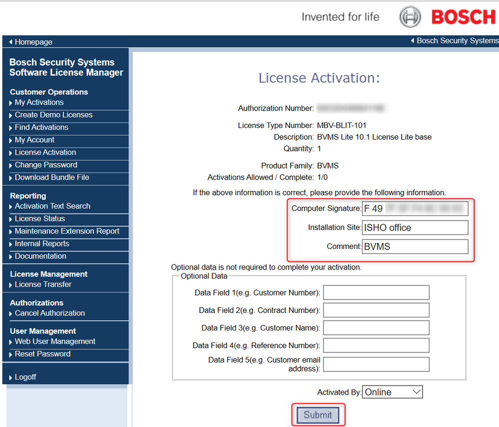 6_activate Bosch Video Management System (BVMS) license.png