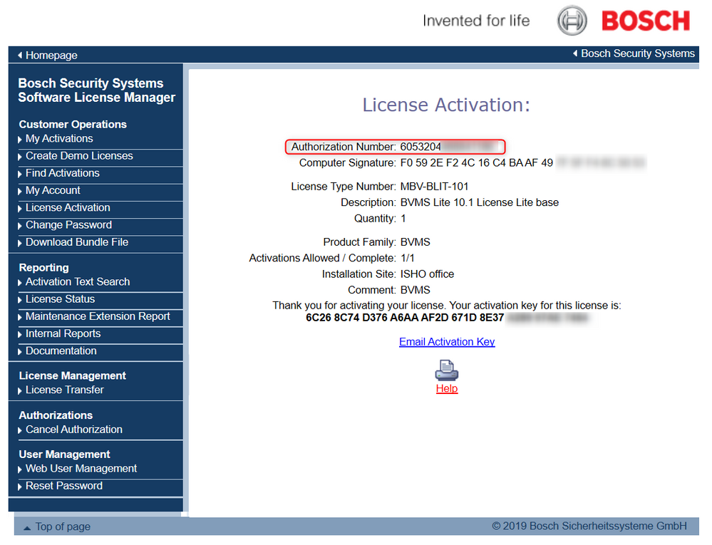 7_activate Bosch Video Management System (BVMS) license.png