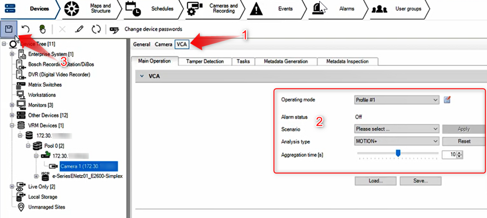 3_How to configure Motion Recording for nights and weekends in Bosch Video Management System (BVMS).png