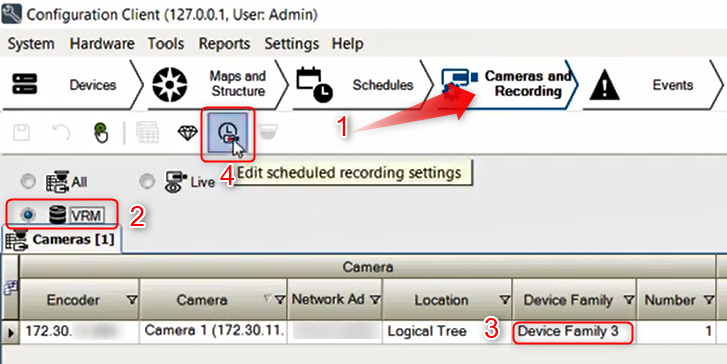 5_How to configure Motion Recording for nights and weekends in Bosch Video Management System (BVMS).png