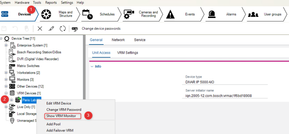 1_How to acces VRM monitor from BVMS Configuration Client.png