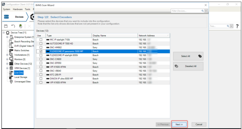4_How to add ONVIF camera in Bosch Video Management System (BVMS).png