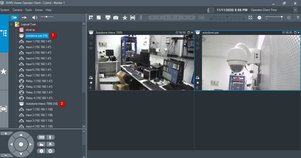 1_Can ONVIF Cameras added to DIVAR network-hybrid be monitored with BVMS Viewer-BVMS Operator Client.png