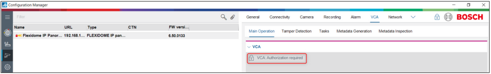 1_VCA Authorization required message is displayed in Configuration Manager.png