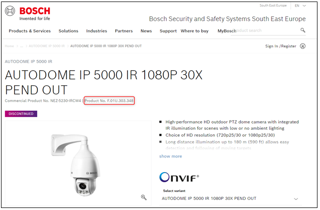 4_Where can I find the customer number & material serial commercial type number of Bosch devices.png