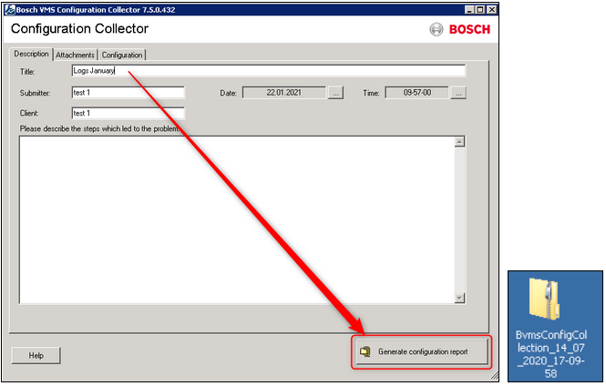 3_How to get the BVMS Configuration Collection Logs of the system.png