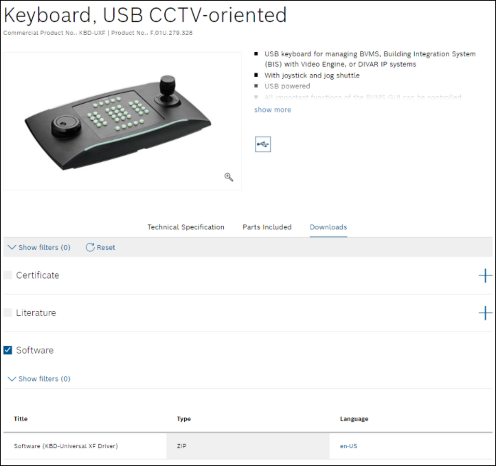 1_How to successfully integrate the Bosch USB Keyboard KBD Universal XF with Bosch Video Client (BVC).png
