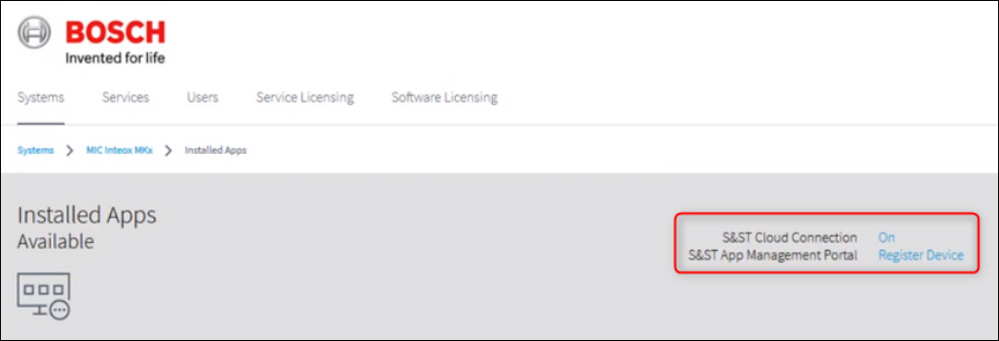 7 How to connect a Bosch INTEOX camera to S&ST using Configuration Manager.png