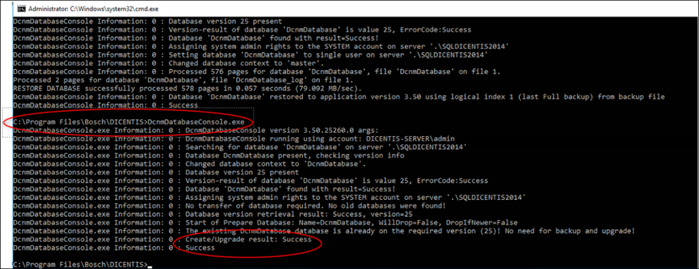 16 Microsoft SQL Database DICENTIS update, backup, restore and Microsoft .NET Framework related problems.png