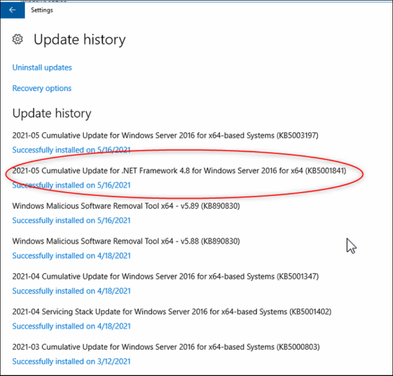 21 Microsoft SQL Database DICENTIS update, backup, restore and Microsoft .NET Framework related problems.png
