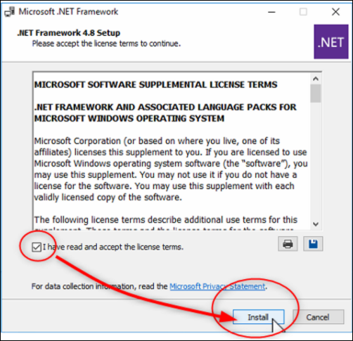 24 Microsoft SQL Database DICENTIS update, backup, restore and Microsoft .NET Framework related problems.png