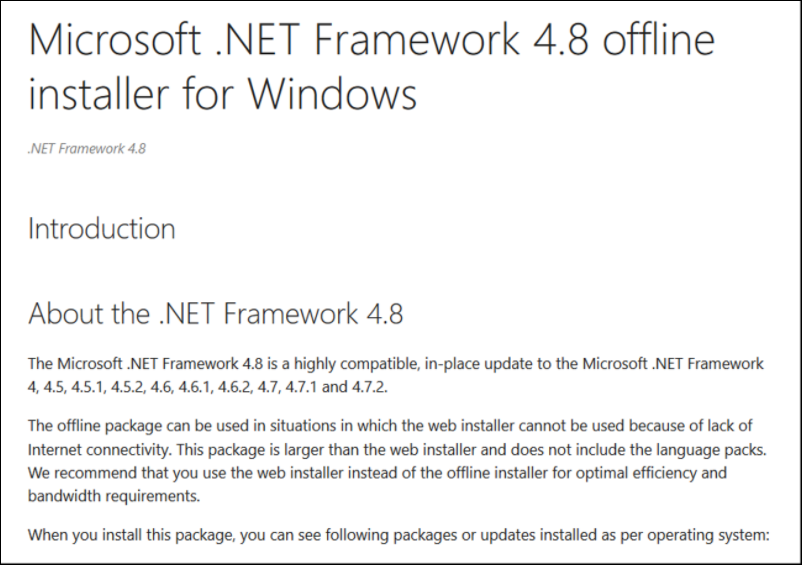 22 Microsoft SQL Database DICENTIS update, backup, restore and Microsoft .NET Framework related problems.png