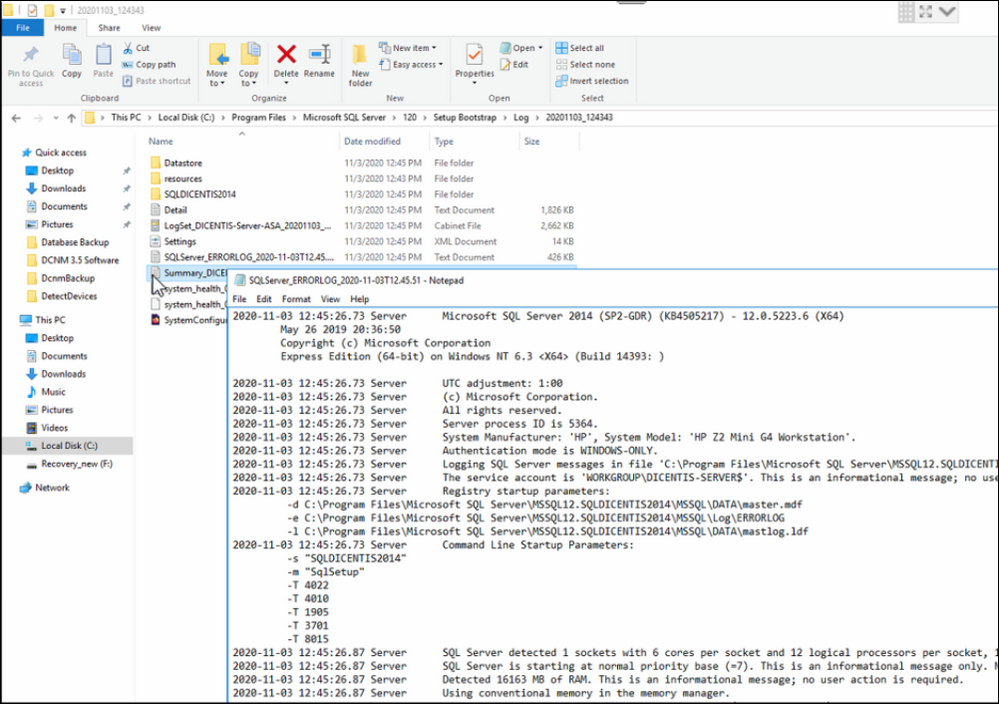 28 Microsoft SQL Database DICENTIS update, backup, restore and Microsoft .NET Framework related problems.png