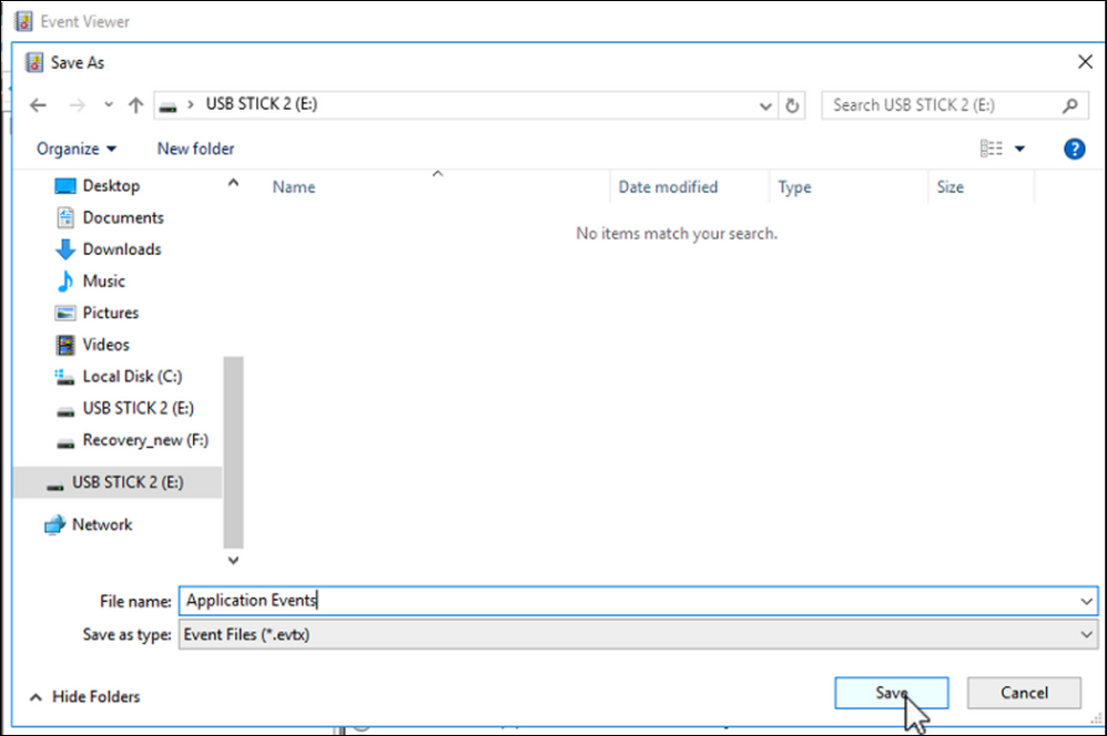 4 How to extract the Microsoft Windows Server log file (Event Viewer) on DICENTIS Server.png