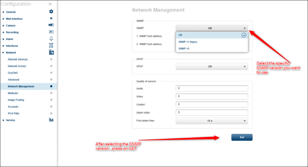 3 How to find and activate the SNMP on a DINION IP starlight 6000 HD camera to be able to monitor it.png