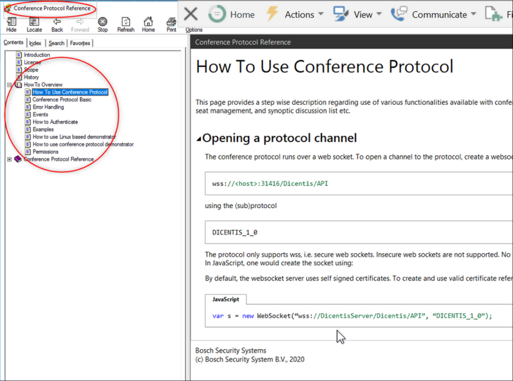 11 WebSocket test for DICENTIS wired refering to Conference Protocol and custome made platforms (Synoptic Webview).png