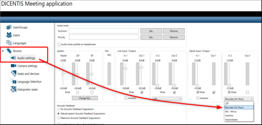 6 How to configure Dicentis wired floor audio stream via Dante and activate multiple language streams.png