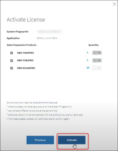 15 How to activate a new BVMS 11.0 license.png