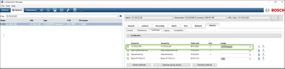 9 How to update Certificate on IP Camera's & VRM Servers.png