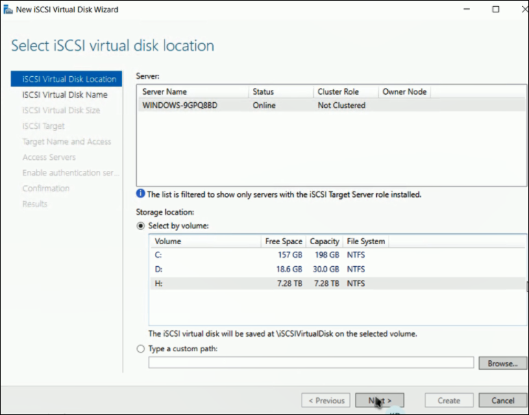 13  How to create iSCSI Virtual DiskLUNs after replacing an HDD on a DIVAR IP 5000 AIO.png