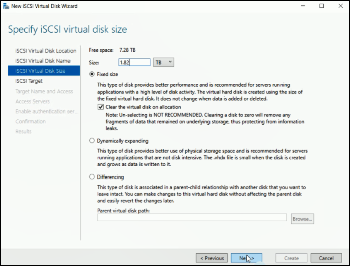 15  How to create iSCSI Virtual DiskLUNs after replacing an HDD on a DIVAR IP 5000 AIO.png